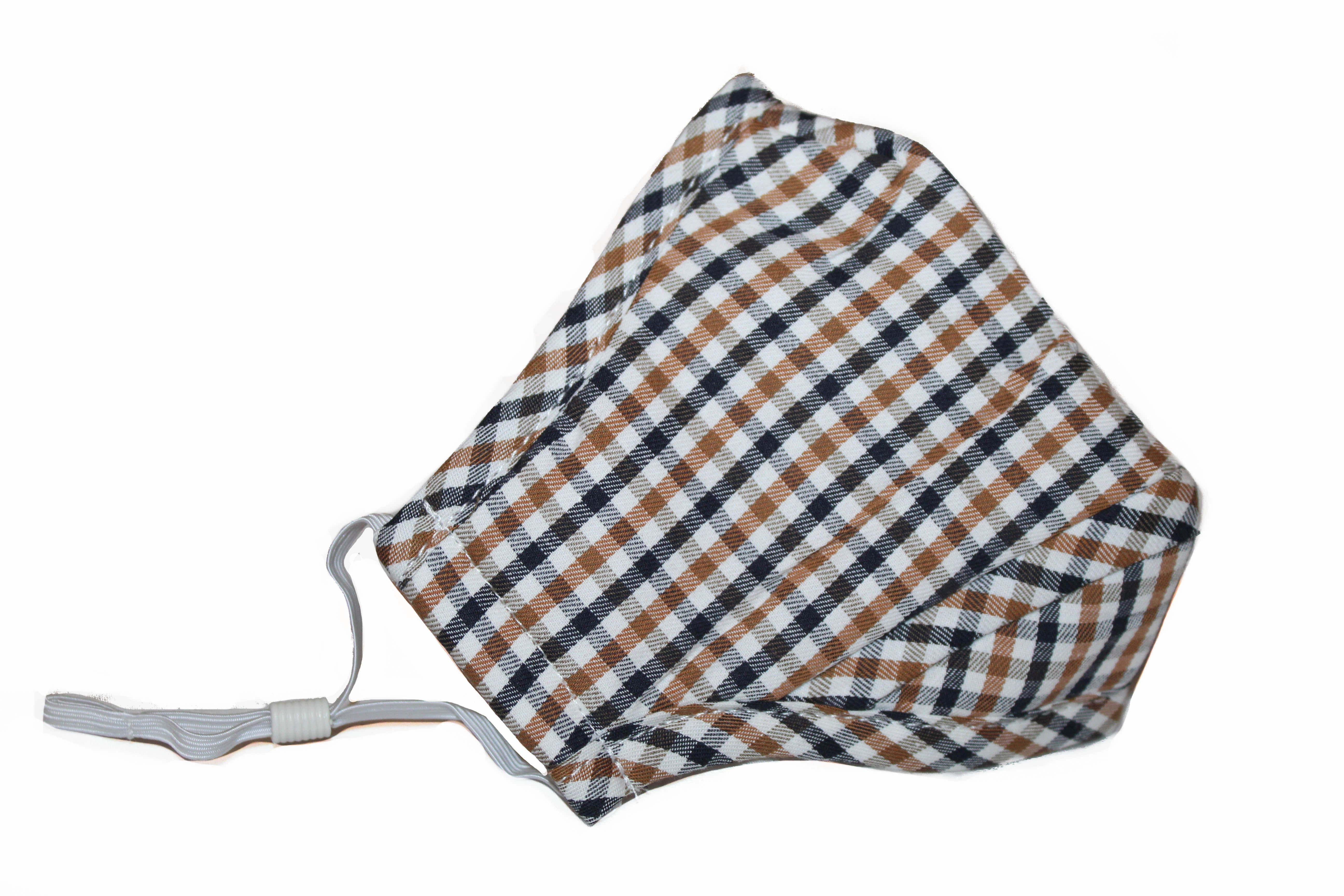 Non Medical Multicolor Plaid Light Weight & Comfortable Wear Face Mask/Covering