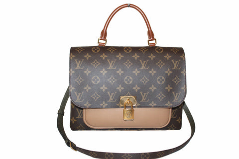 Authentic Louis Vuitton Monogram Sesame Marignan Hand/Shoulder/Crossbody Bag