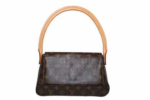 Authentic Louis Vuitton Classic Monogram Mini Looping Tote Bag