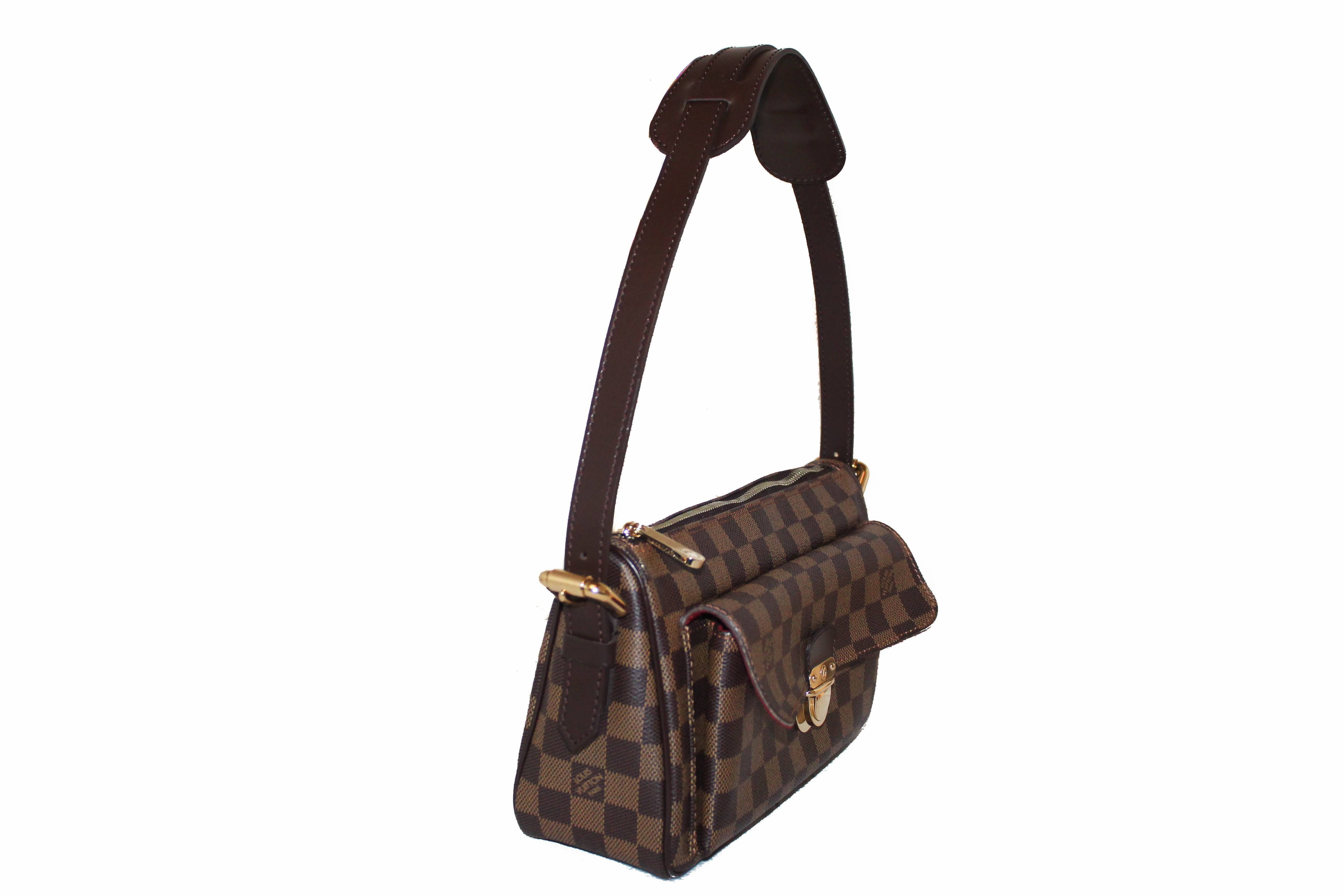 Authentic Louis Vuitton Damier Ebene Ravello GM Shoulder Bag