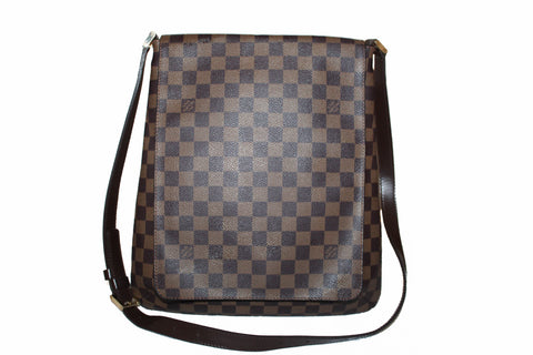 Authentic Louis Vuitton Damier Ebene Musette Messenger Bag
