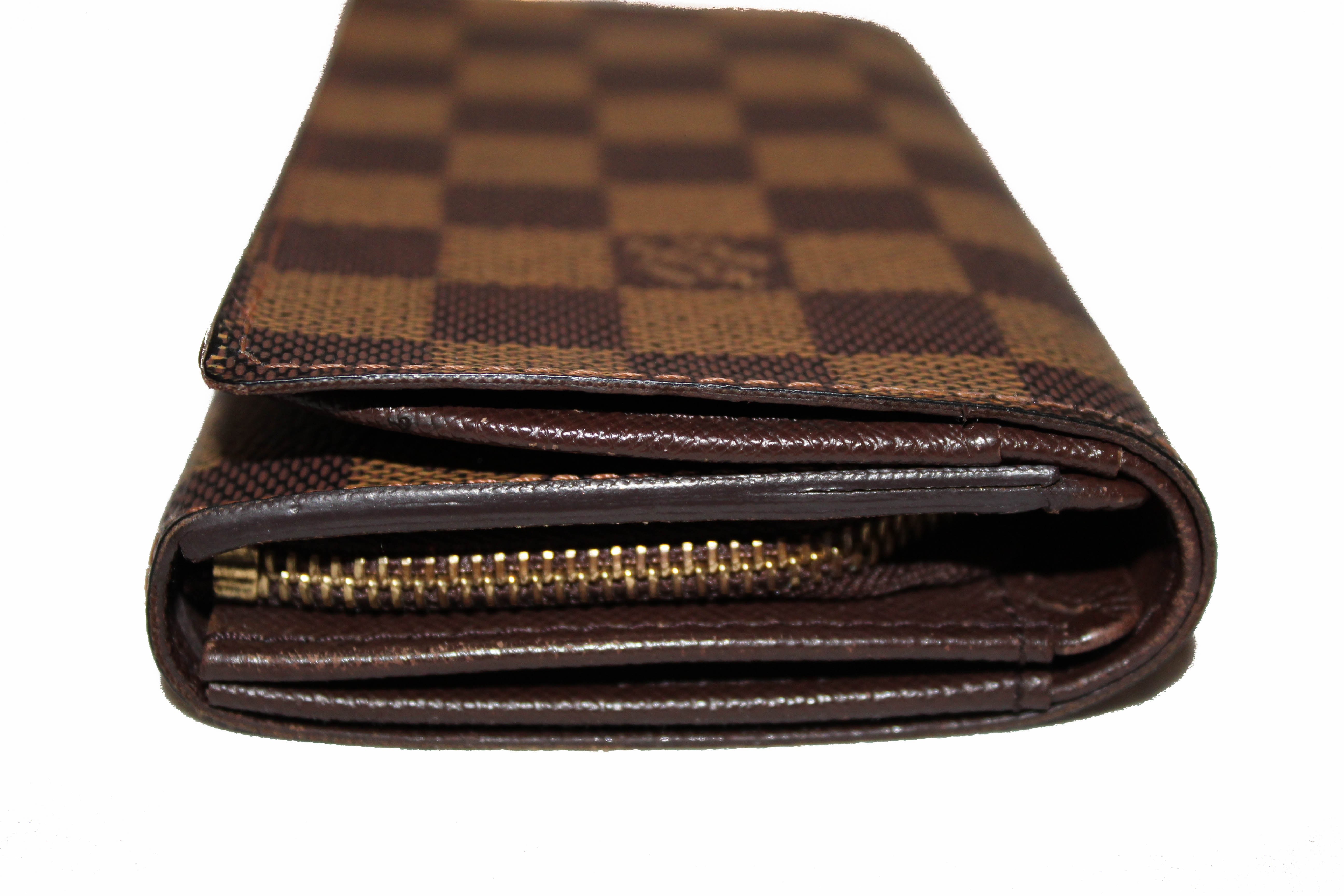 Authentic Louis Vuitton Damier Ebene Tressor Wallet