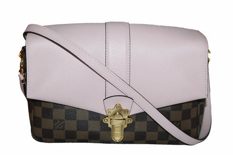 Authentic Louis Vuitton Damier Ebene Pink Clapton Cross Body Bag