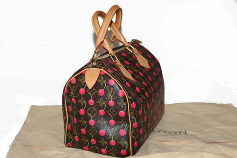 Louis Vuitton Limited Edition Monogram Cherry Cerises Speedy 25 Handbag