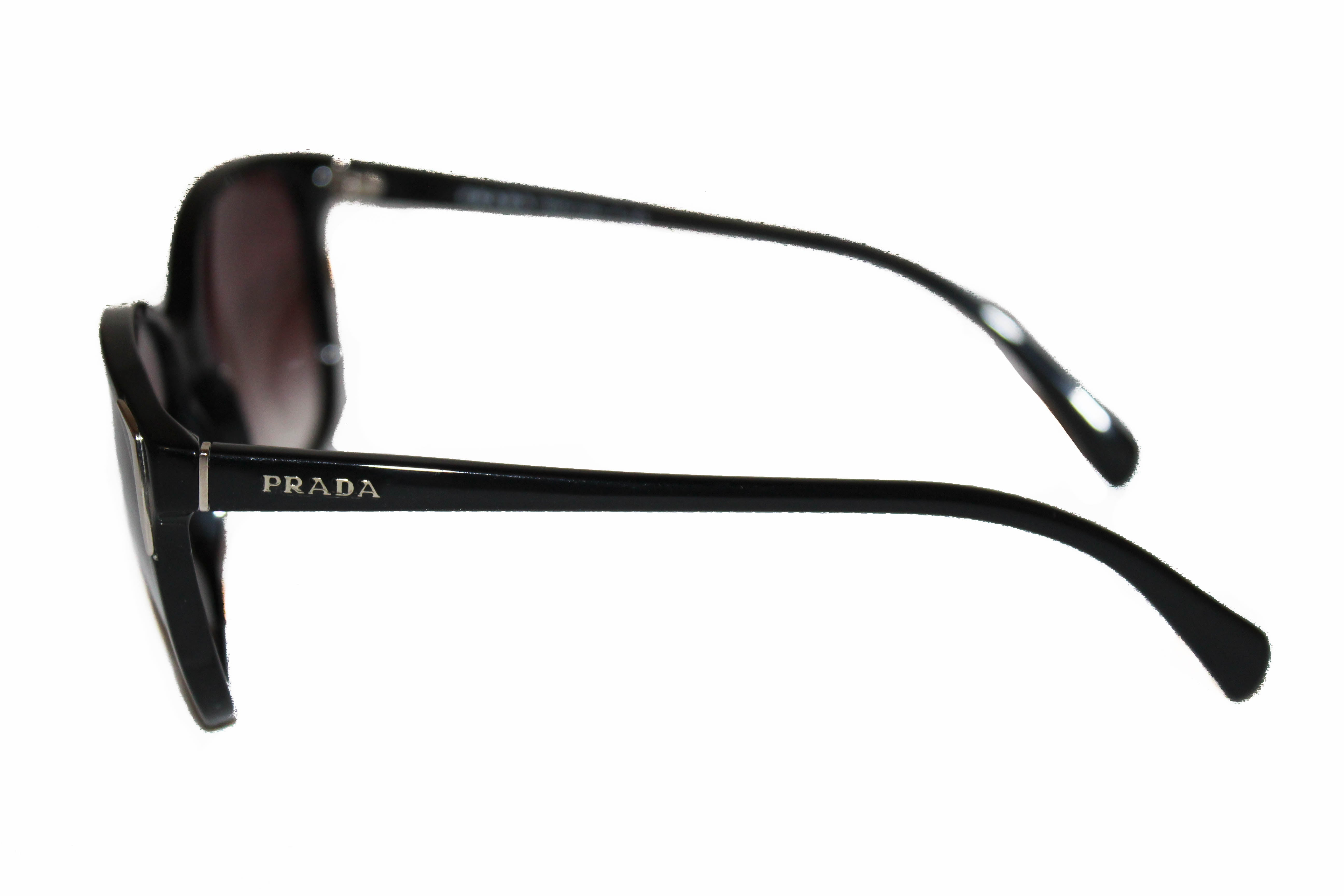 Authentic Prada Black Frame Gradient Arrow Sunglasses SPR01O