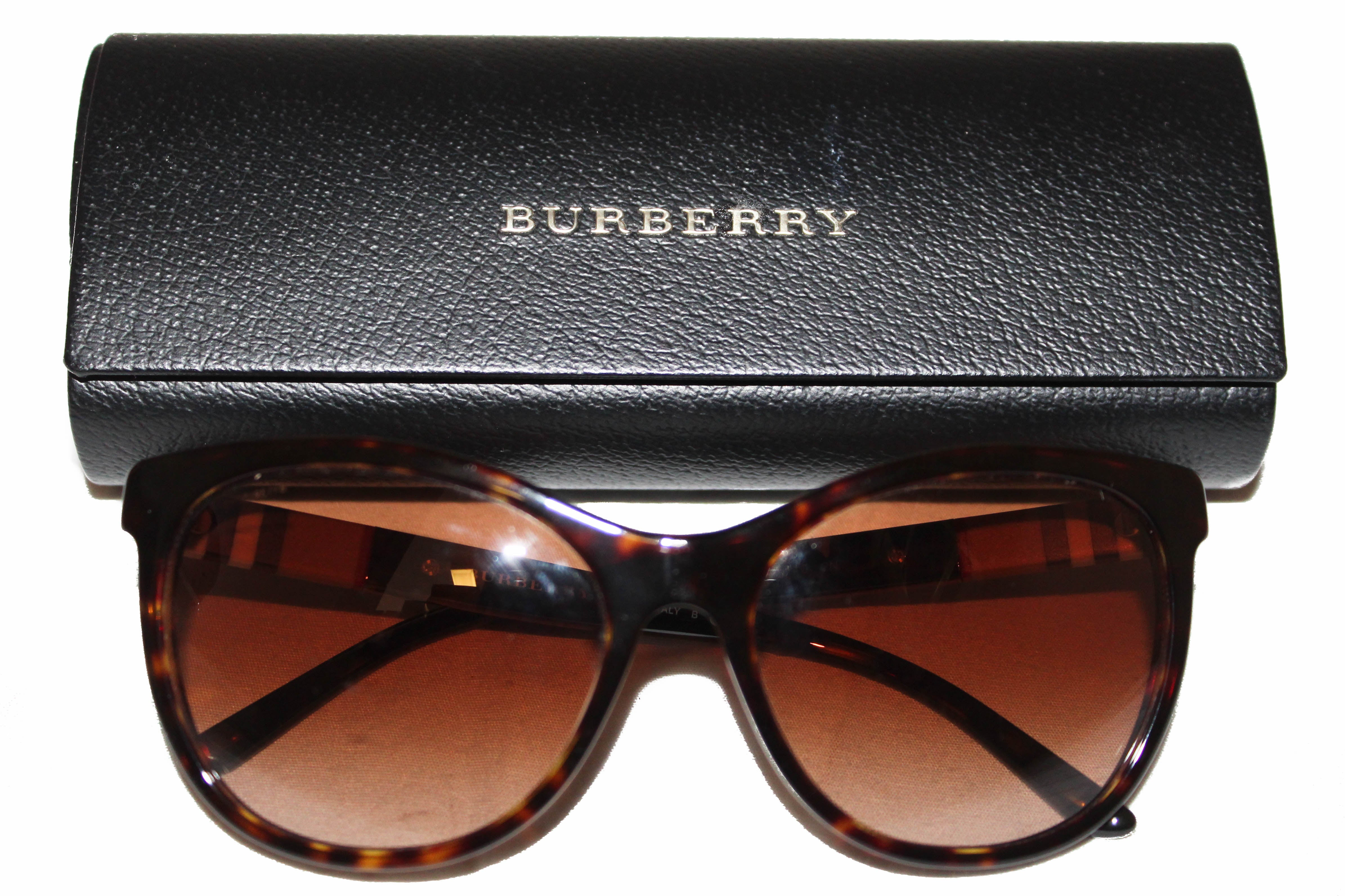 Authentic Burberry Brown Plastic Frame Sunglasses B4199