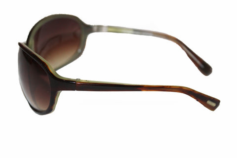 Authentic Oliver Peoples Brown Green Gradient Sunglasses 66 15-105 BB