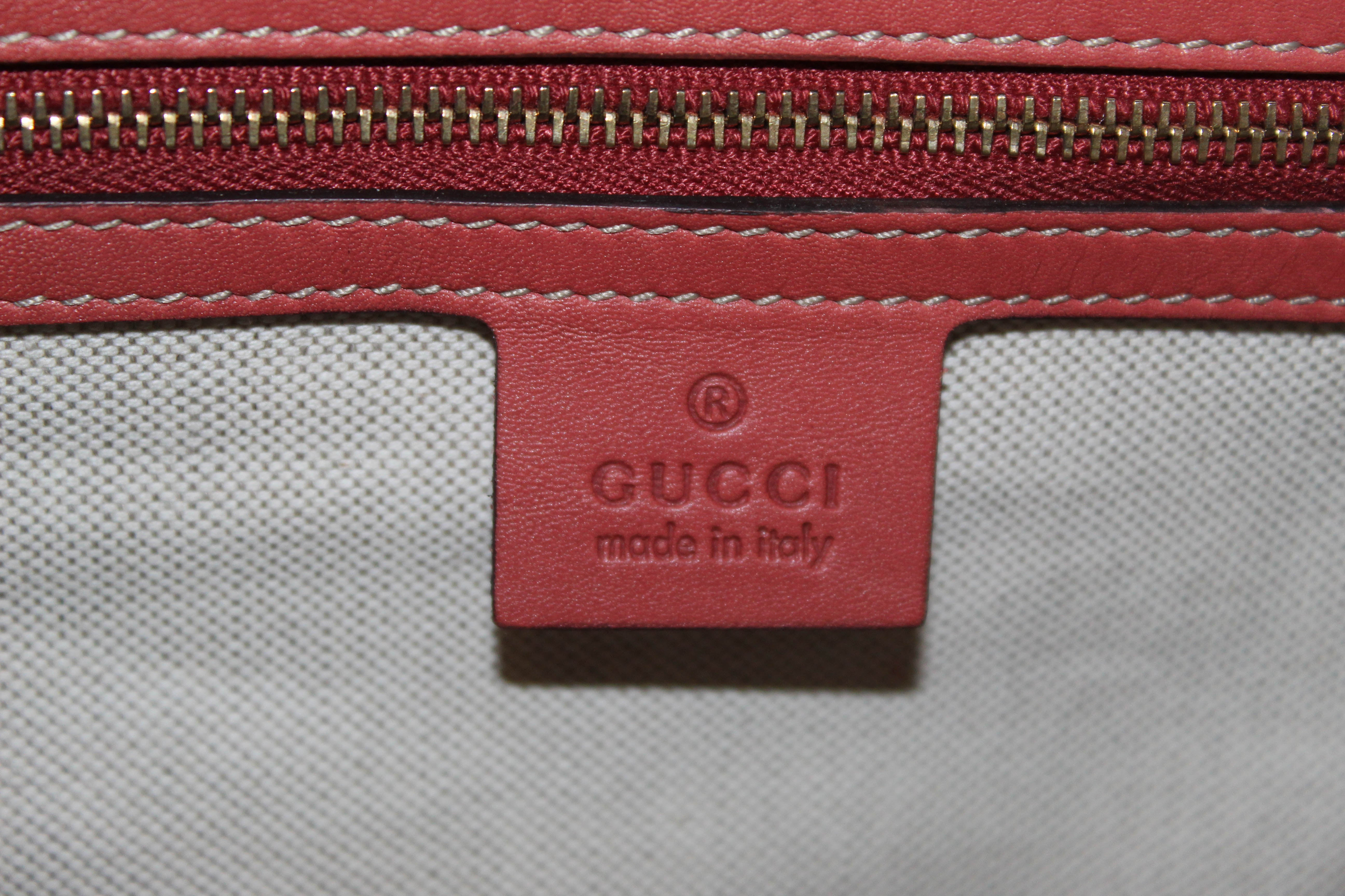 Authentic Gucci Pink Original Web Boston Handbag Bag 247205