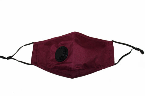 Non Medical Burgundy Lightweight & Comfortable Wear Face Mask/Covering
