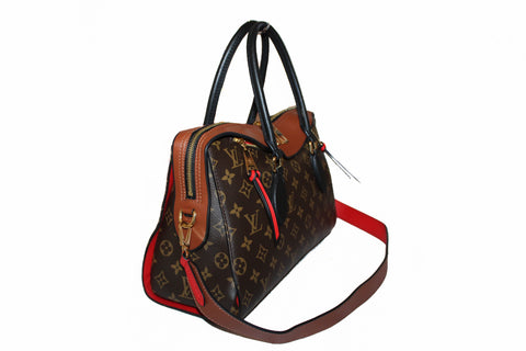 Authentic Louis Vuitton Monogram Canvas Caramel Tuileries Handbag