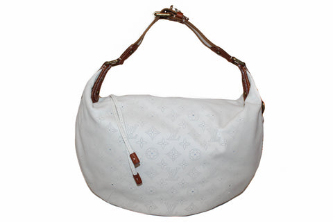 Authentic New Louis Vuitton Limited Edition White Leather Onatah GM Bag