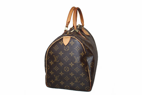 Authentic Louis Vuitton Monogram Speedy 35 Handbag