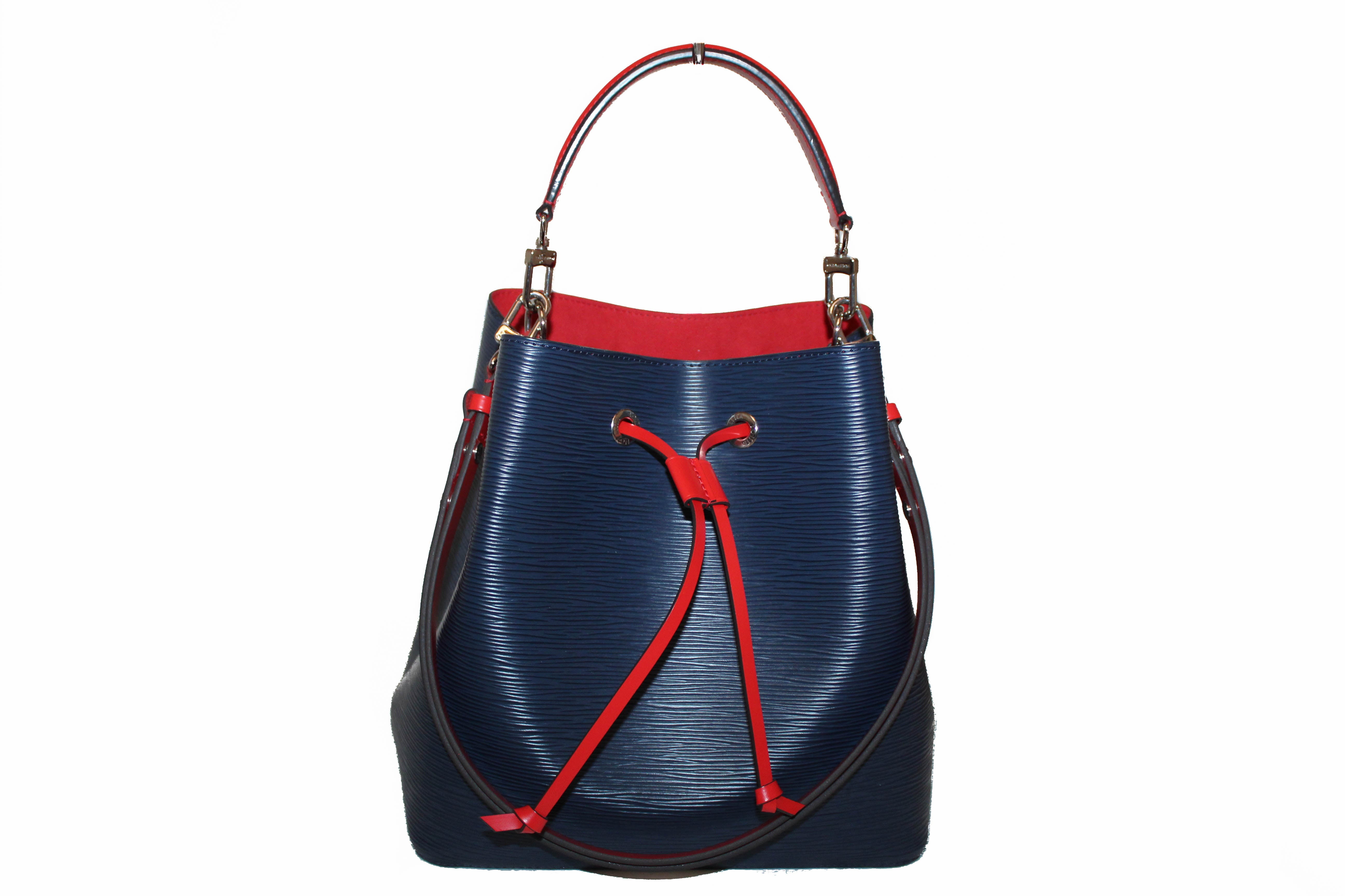 Authentic Louis Vuitton Blue Epi Leather Neo Noe MM Shoulder Bag
