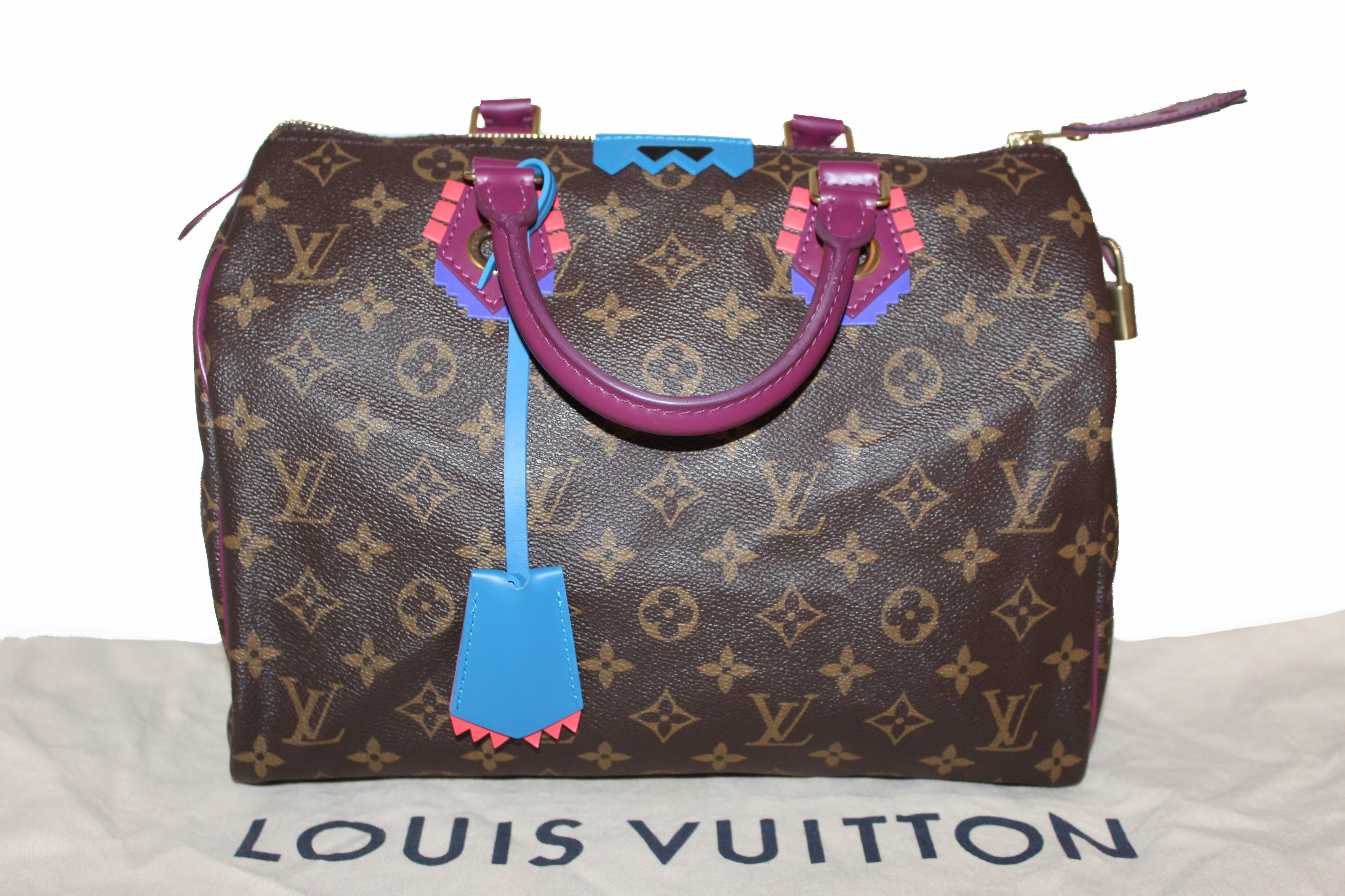 Authentic Louis Vuitton Limited Edition Totem Monogram Canvas Speedy 30 Handbag