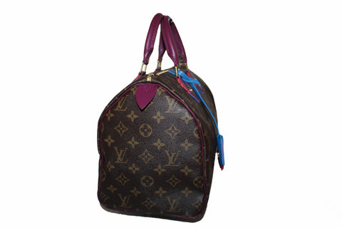 Authentic Louis Vuitton Totem Monogram Canvas Speedy 30 Handbag