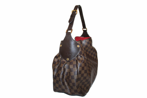 Authentic Louis Vuitton Damier Ebene Canvas Reggia Shoulder Bag