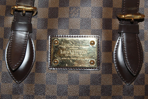 Authentic Louis Vuitton Damier Ebene Hampstead MM Shoulder Bag
