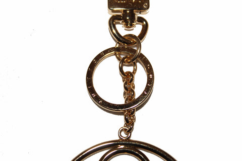 Authentic Louis Vuitton Gold Flower Finesse Bag Charm & Key Holder