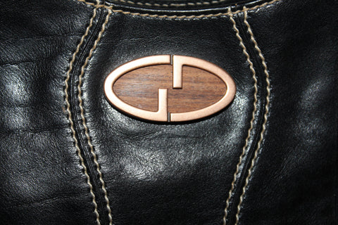 Authentic Vintage Gucci Black Shiny Calfskin Leather Shoulder Bag