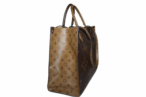 Authentic New Louis Vuitton Onthego GM Brown Monogram Giant Coated Canvas Tote