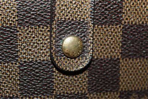 Authentic Louis Vuitton Damier Ebene French Purse Wallet