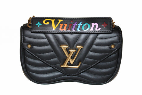Authentic Louis Vuitton Black New Wave Chain PM Hand/Shoulder/Crossbody Bag