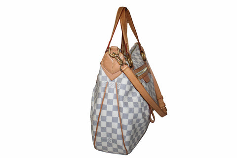 Authentic Louis Vuitton Damier Azur Evora MM Hand/Shoulder Bag