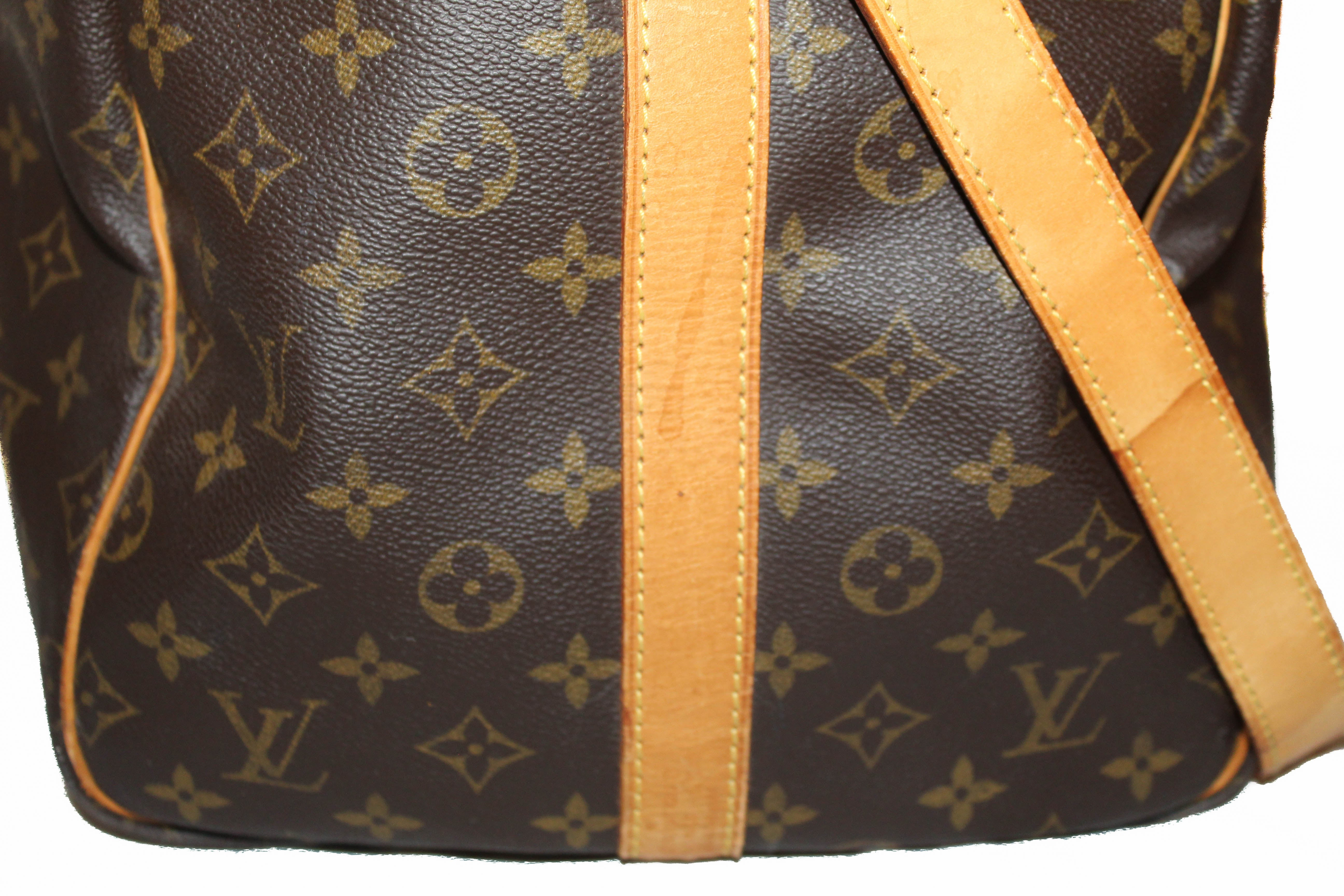 Authentic Louis Vuitton Classic Monogram Keepall 55 Travel Bag