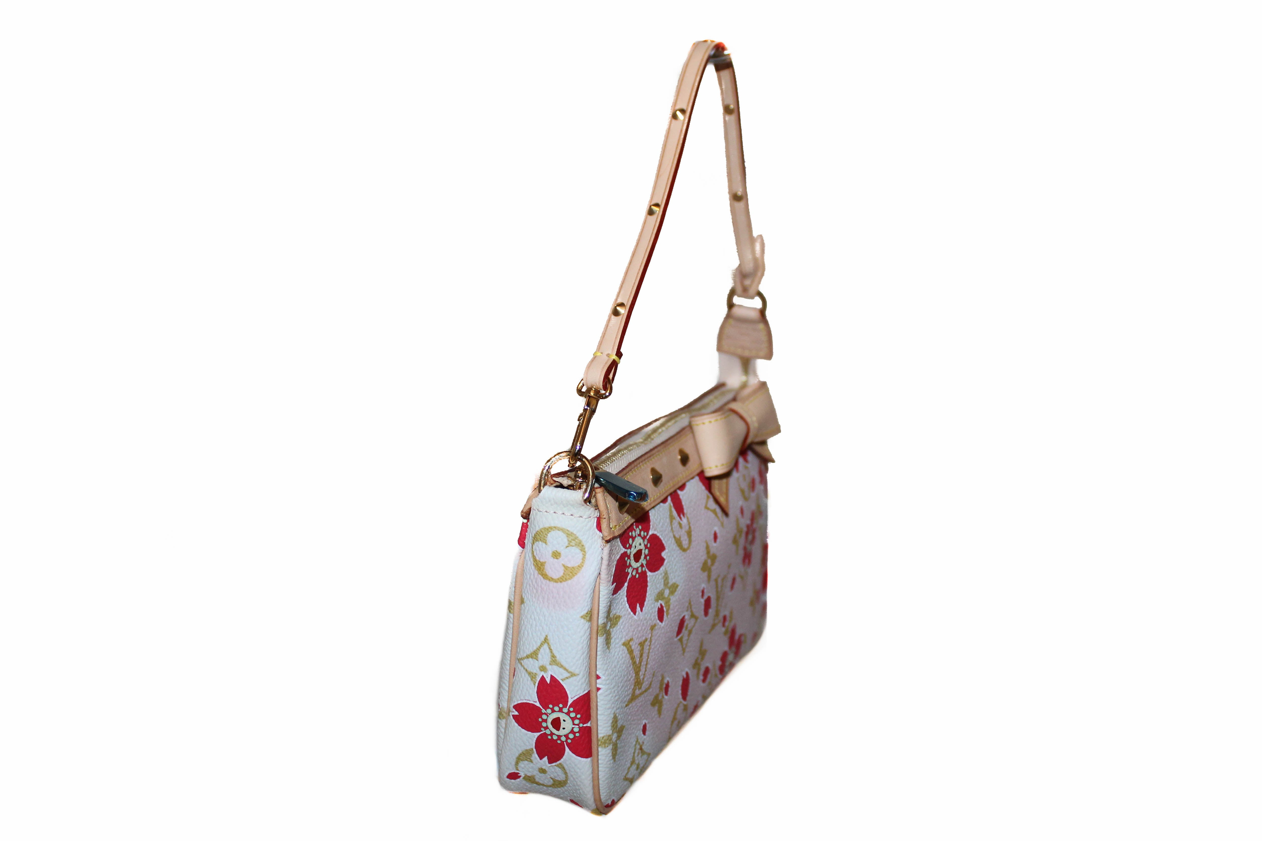 Authentic New Louis Vuitton Cherry Blossom Pochette Pouch Shoulder Bag