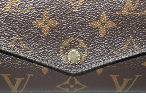 Authentic Louis Vuitton Classic Monogram Sarah Wallet