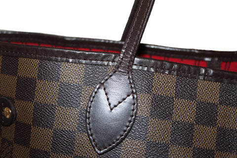Authentic Louis Vuitton Damier Ebene Neverfull Tote Shoulder Bag