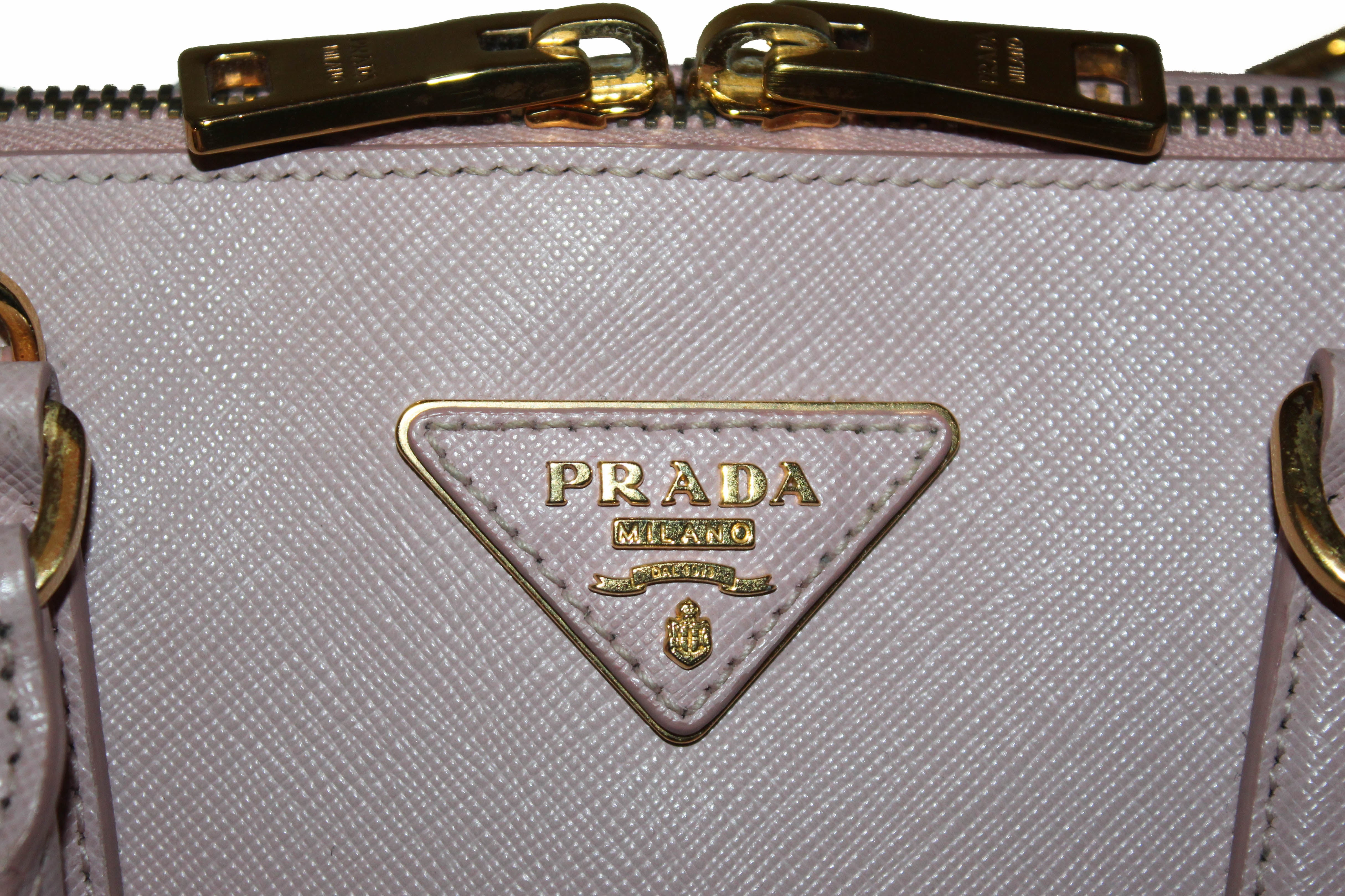 Authentic Prada Soft Pink Orchidea Saffiano Leather Promenade Bag 1BA837