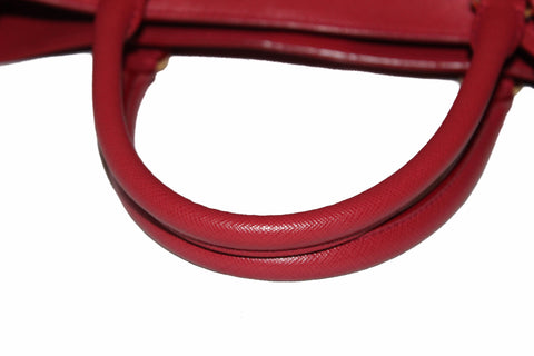 Authentic Prada Fuoco Red Saffiano Lux Leather Large Tote Bag BN1844