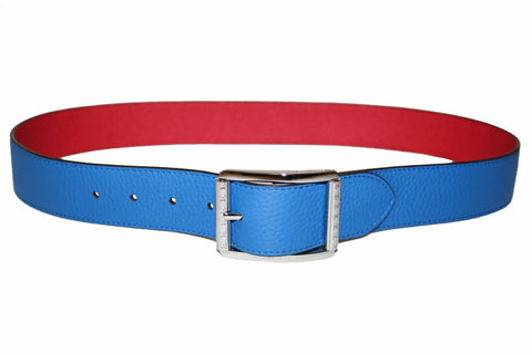 Authentic Louis Vuitton Reverso 40MM Red/Blue Taurillon Leather Reversible Belt