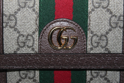 Authentic New Gucci Ophidia GG French Flap Wallet