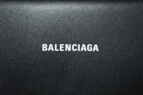 Authentic Balenciaga Black Calfskin Leather Continental Flap Wallet