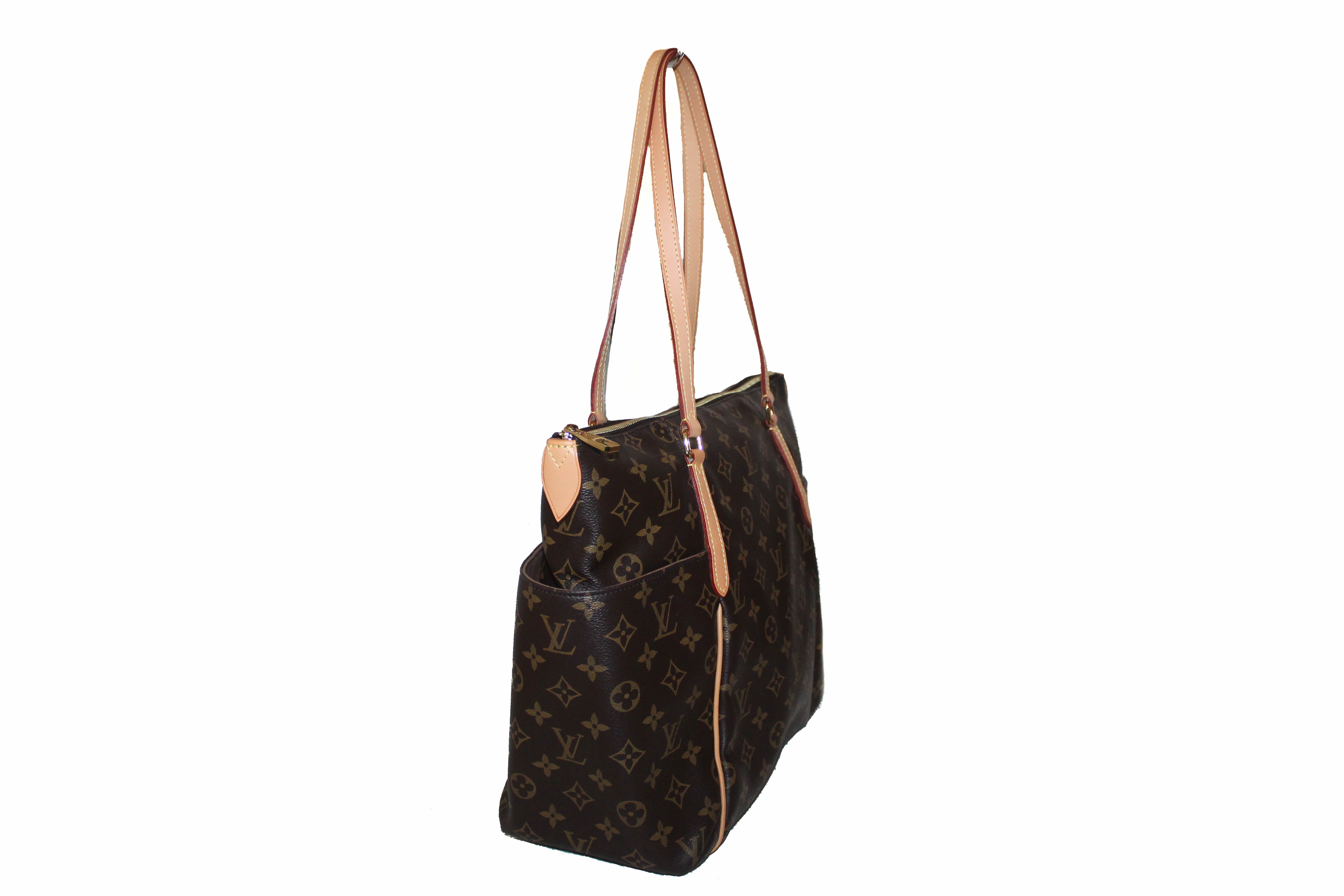 Authentic Louis Vuitton Classic Monogram Totally MM Tote Shoulder Bag