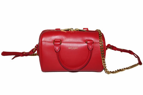 Authentic Yves Saint Laurent YSL Red Duffel Toy Hand/Crossbody Bag