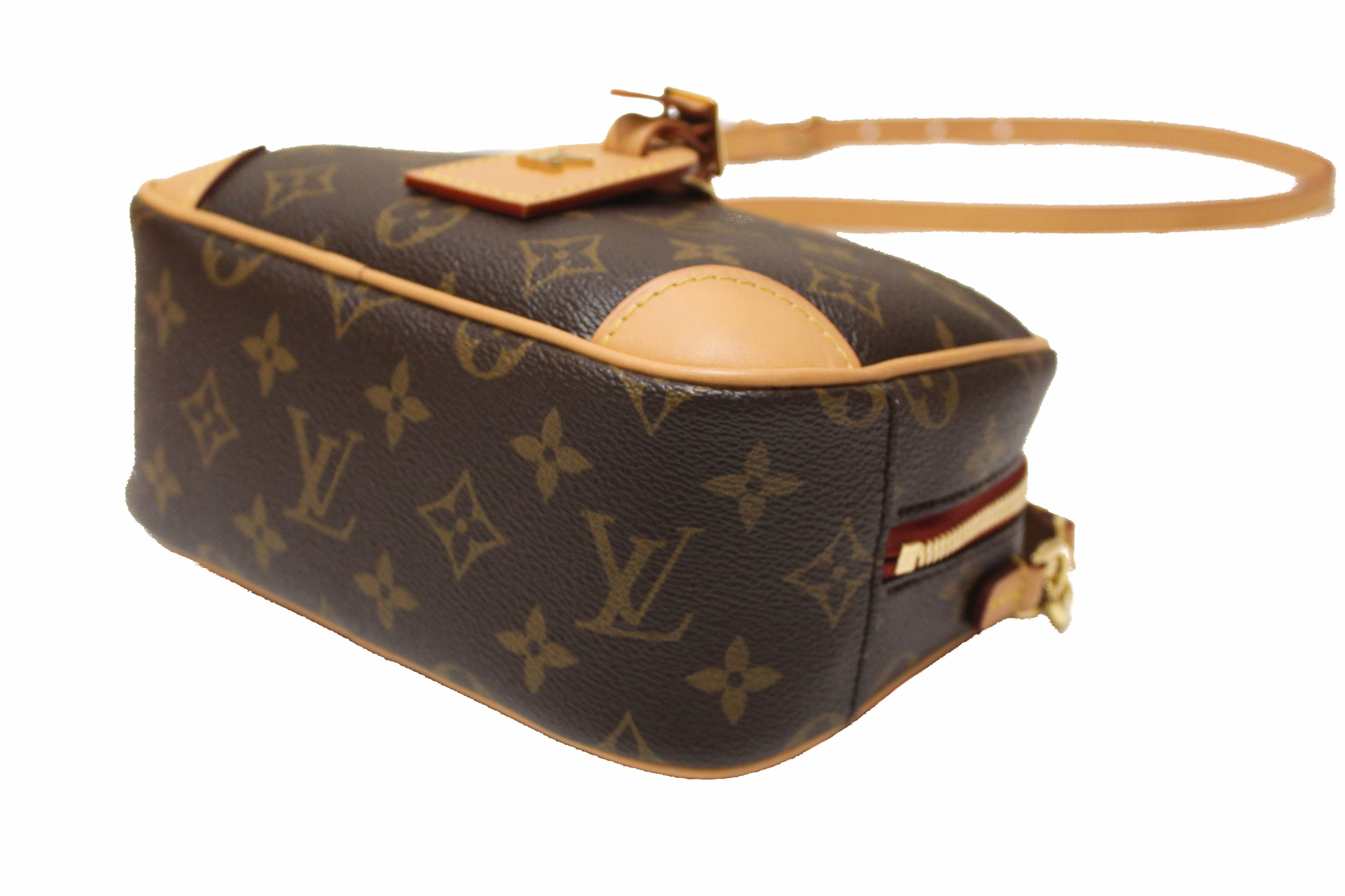 Authentic Louis Vuitton Monogram Deauville Mini Messenger Crossbody Bag