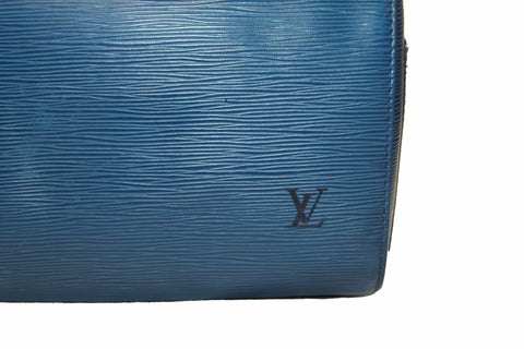 Authentic Louis Vuitton Epi Leather Blue Speedy 30 Hand Bag