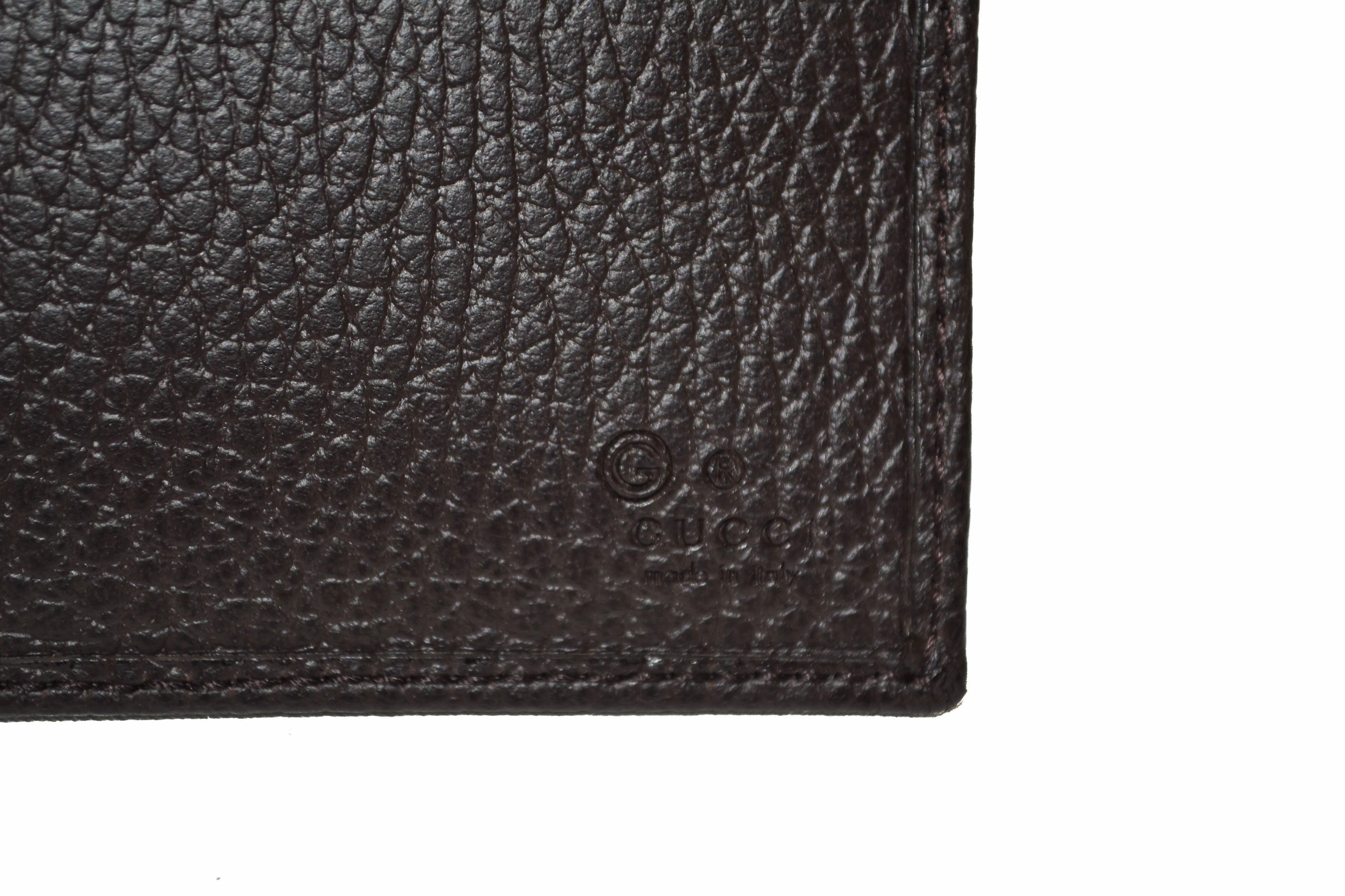 Authentic New Gucci Brown GG Signature Men's Wallet