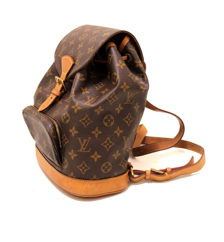 Authentic Louis Vuitton Monogram Canvas Medium MM Montsouris Backpack