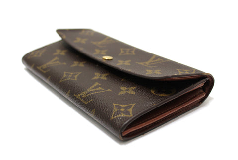 Authentic Louis Vuitton Monogram Canvas Sarah Long Wallet