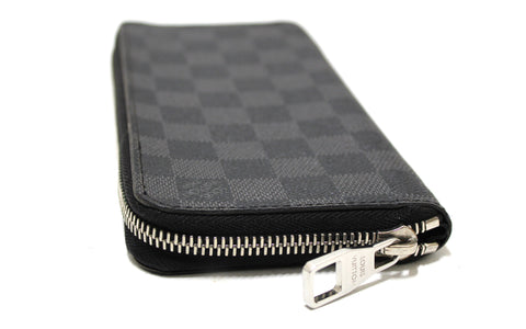 Authentic Louis Vuitton Damier Graphite Canvas Zippy Vertical Wallet