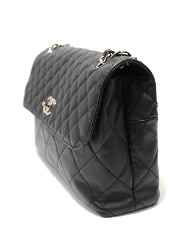 Authentic Chanel Classic Black Single Flap Calfskin leather