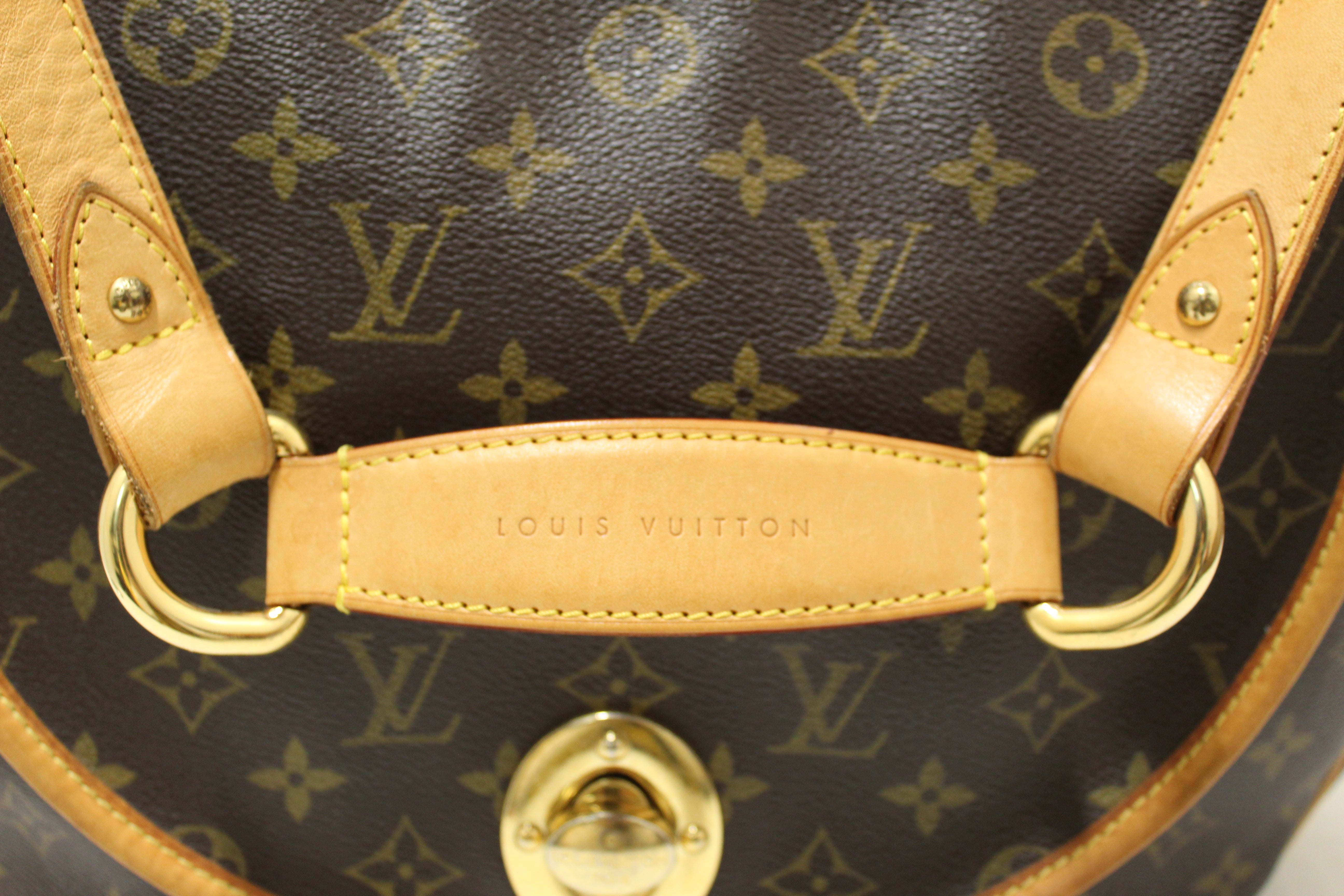 Authentic Louis Vuitton Monogram Canvas Tulum GM Shoulder Hobo Bag