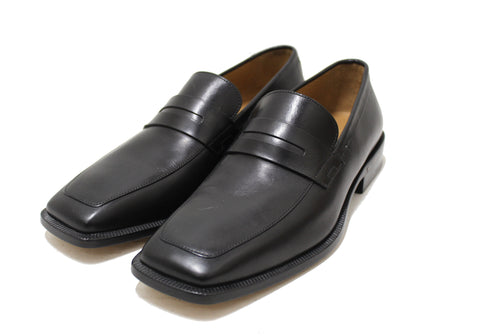 Authentic Louis Vuitton Men's Black Calf Leather Loafer Dress Shoes UK size 6 (US 7)