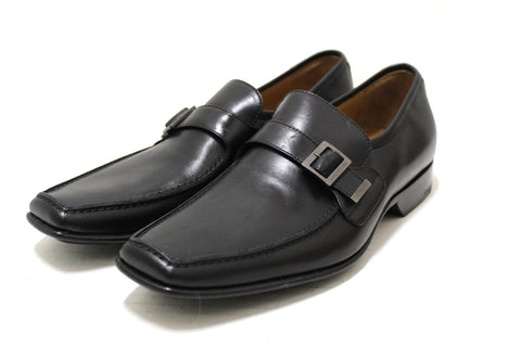 Authentic Louis Vuitton Men's Black Calf Leather Buckle Loafers Dress Shoes UK size 6 (US size 7)