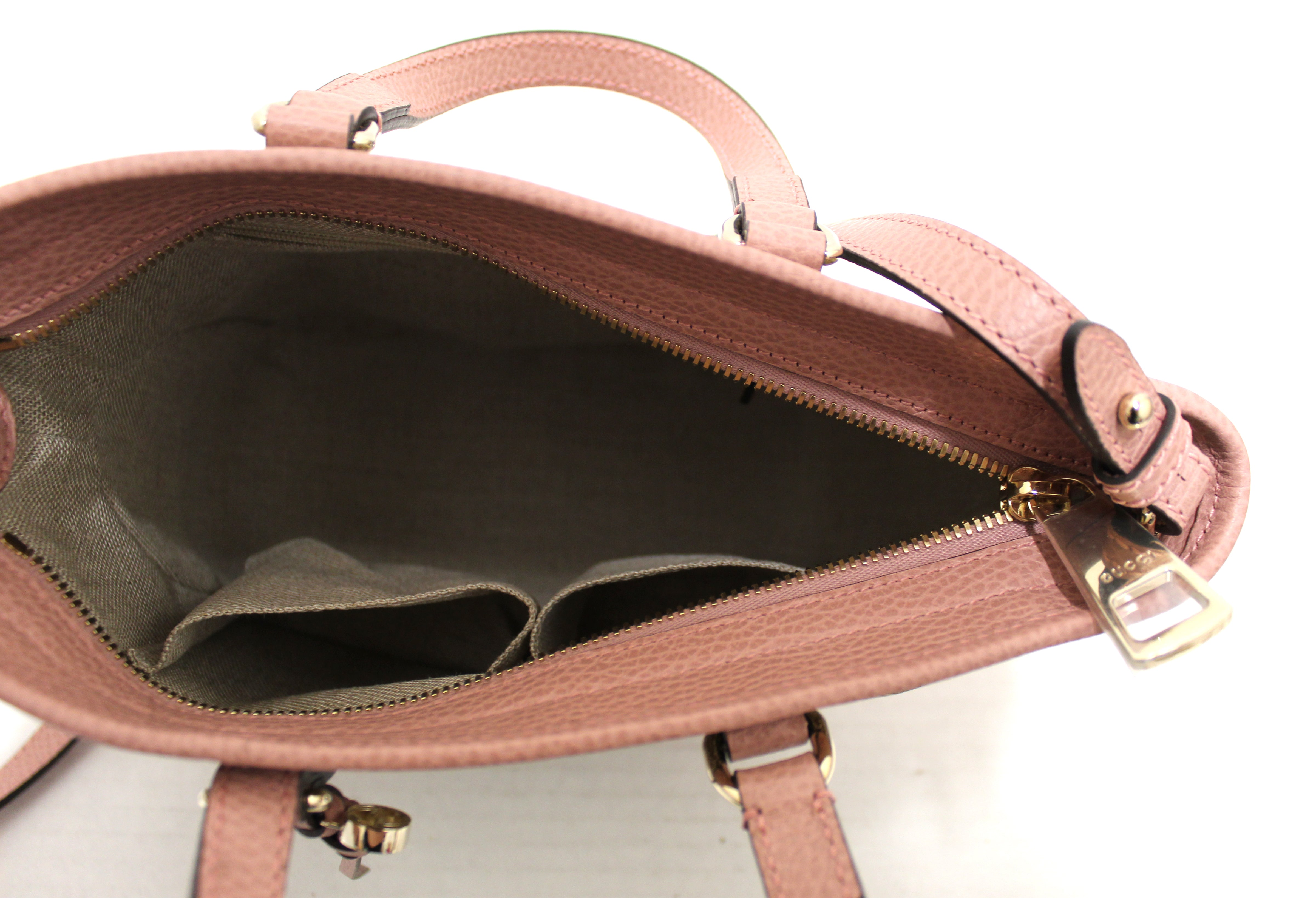 Authentic New Gucci Pink Bree Small Tote Crossbody Hand Bag 449241