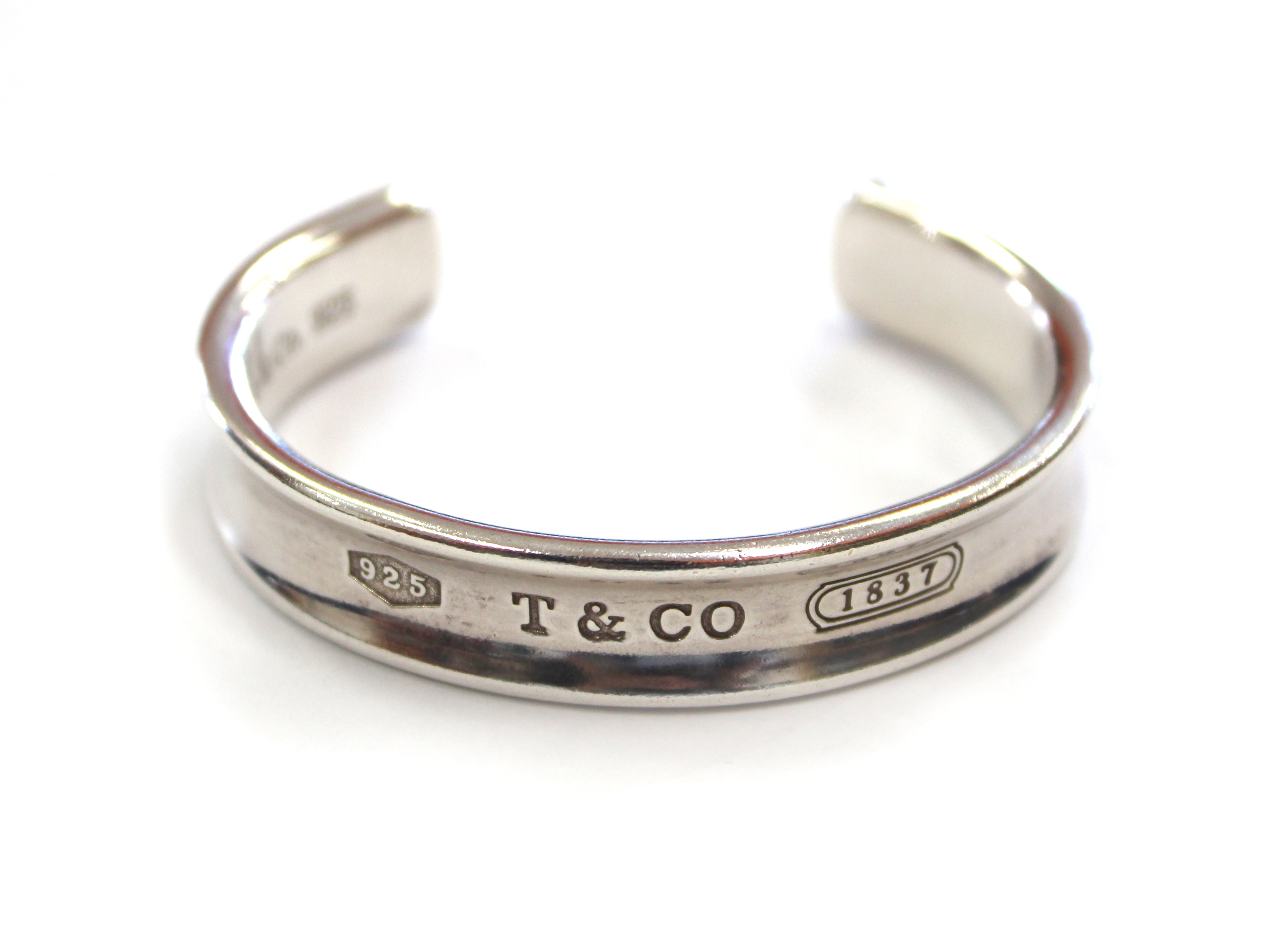 Authentic Tiffany & Co. Sterling Silver 1837 Cuff Bracelet Bangle